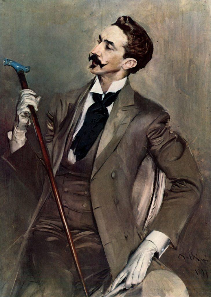 Robert de Montesquiou. Giovanni Boldini (1897). Orsay museum, Paris.