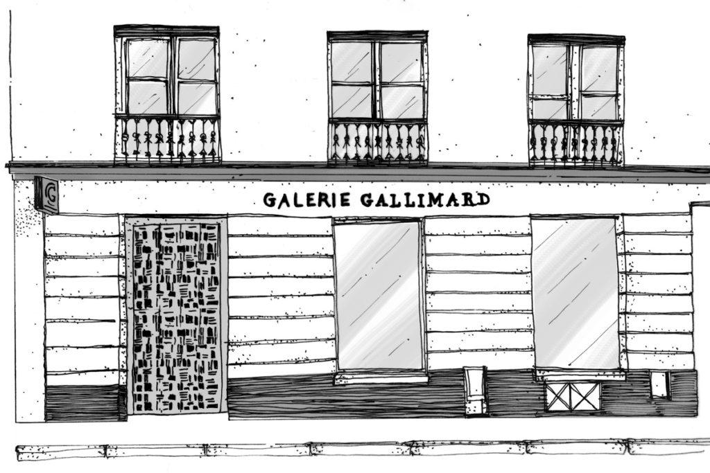 Croquis Galerie Gallimard