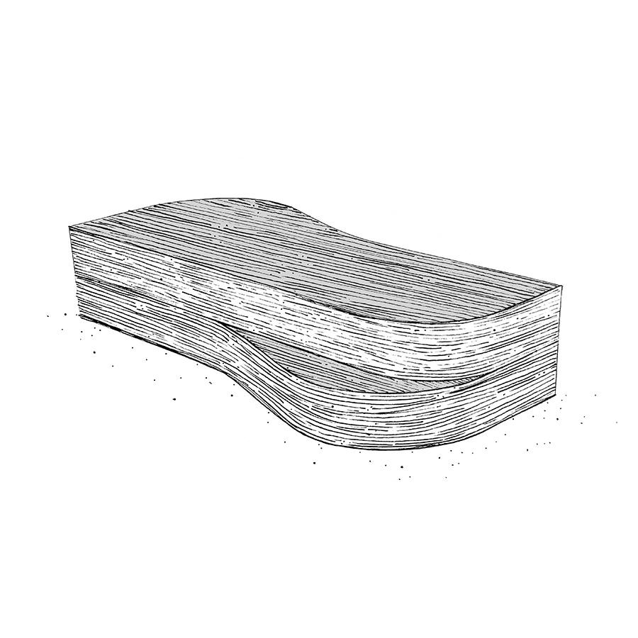 ONDE – coffee table – Philippe Hurel